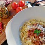 vegini Bolognese mit Spaghetti